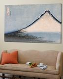 Le Fuji bleu Plakat av Katsushika Hokusai
