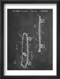 Skateboard Patent 1980 Plakát