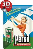 Persil - Wäsche auf der Leine Blechschild