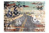 Road To The Flag Prints by Jace Grey