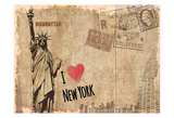 Post Card New York Prints by Kimberly Allen