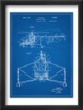 Sikorsky Helicopter Patent Umělecké plakáty