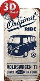 VW Bulli - The Original Ride Tin Sign