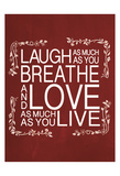 Red Chalk Laugh Prints by Lauren Gibbons