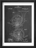 French Horn Instrument Patent Obrazy