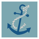 Saphire Anchor Prints by Melody Hogan