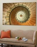 Spiral Staircase at Eckmuhl Lighthouse in Brittany Prints by Owen Franken