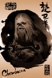 Star Wars- Chewbacca Sumi-E Print
