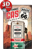 Route 66 Gas Station - Metal Tabela