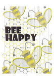 Bee Happy Art by Kimberly Allen