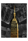 Gold NY Poster by Jace Grey