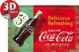 Coca-Cola - Delicious Refreshing Green Blikskilt