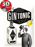 Gin Tonic Carteles metálicos