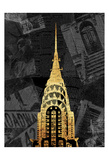 Gold NY Mate Prints by Jace Grey