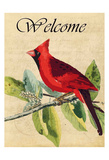 Cardinal Welcome Prints by Kimberly Allen