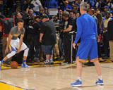 Stephen Curry 30 Warms Up - Golden State Warriors vs Memphis Grizzlies, April 13, 2016 Photo by Garrett Ellwood