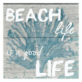 Beach Life Blue Art by Taylor Greene