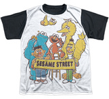 Youth: Sesame Street- Block Party Black Back T-shirts