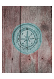 Teal Compass 2 Prints by Victoria Brown