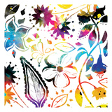 Colorful Florals Mate Prints by Jace Grey