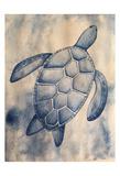 Blue Sea Turtle Schilderij van Pam Varacek