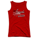 Juniors Tank Top: Chevy- Classic Impala Womens Tank Tops