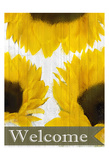 Sunflowers Welcome Posters by Kimberly Allen