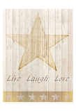 Live Laugh Love Gold Poster by Kimberly Allen