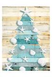 Coastal Christmas Tree Poster di Jace Grey