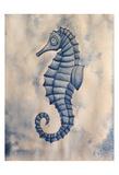 Blue Sea Horse Art by Pam Varacek