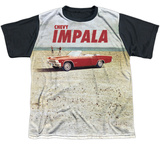 Youth: Chevy- Beach Impala At The Beach Black Back Shirt