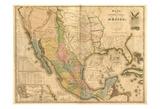 US Mexico Print by Tina Carlson