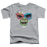 Toddler: Sesame Street- Three Lively Monsters T-Shirt