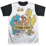Sesame Street- Block Party Black Back Shirt