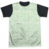 Sesame Street- Logo Puzzle Pattern Black Back Shirts