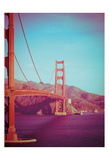 Retro Golden Gate Posters by Sonja Quintero