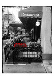 Red Restaurant Flora Pop Prints by Sheldon Lewis