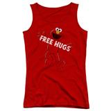 Juniors Tank Top: Sesame Street- Elmo Free Hugs Womens Tank Tops