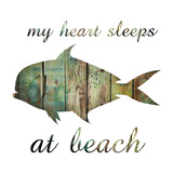 My Heart And The Beach Prints by Sheldon Lewis