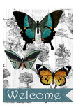 Welcome Butterflies Posters by Kimberly Allen