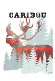 Plaid Caribou Print by Tina Carlson