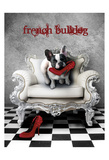French Princess Bulldog 82453 Print by May May
