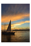 Sunset Sail Painting Posters by Suzanne Foschino
