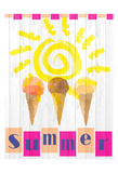 Summer Ice Cream Cones Prints by Kimberly Allen