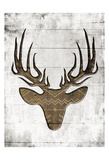 White Wood Dear Mate Print by Jace Grey