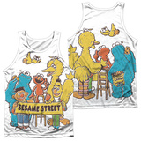 Tank Top: Sesame Street- Block Party (Front/Back) Tank Top