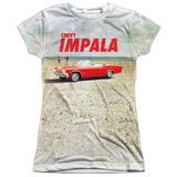 Juniors: Chevy- Beach Impala At The Beach T-Shirt