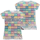 Juniors: Sesame Street- Logo Color Block (Front- Back) Womens Sublimated