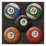 Let's Play Pool Prints by Jace Grey
