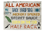 American BBQ Board Posters by Sheldon Lewis